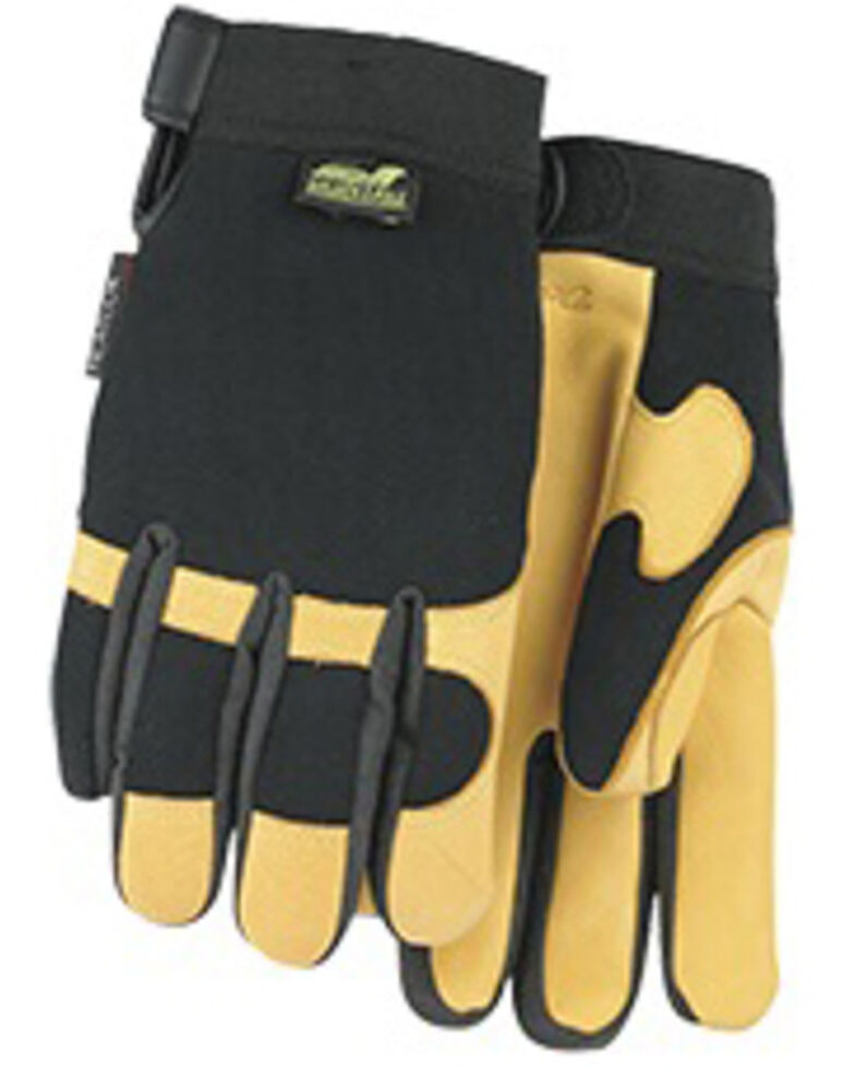 Durango Men's Winter Gold Lined Bald Eagle Mechanic Gloves, Black, hi-res