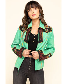 Double D Ranch Women's Green Cass Jacket, Green, hi-res