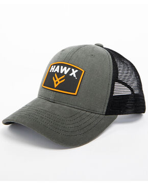 Hawx Men's Grey Patch Logo Trucker Cap, Grey, hi-res