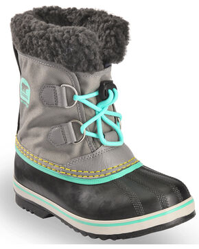 Sorel Boys' Lace-Up Outdoor Boots , Grey, hi-res