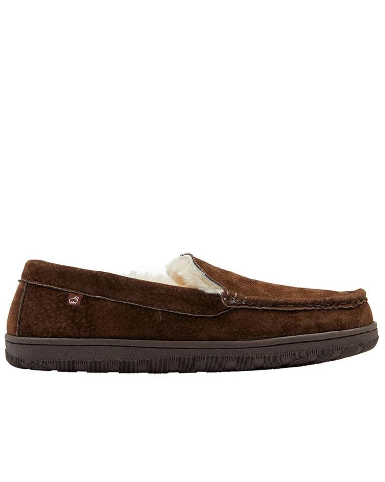 Lamo Footwear Men's Harrison Slippers - Moc Toe, Brown, hi-res