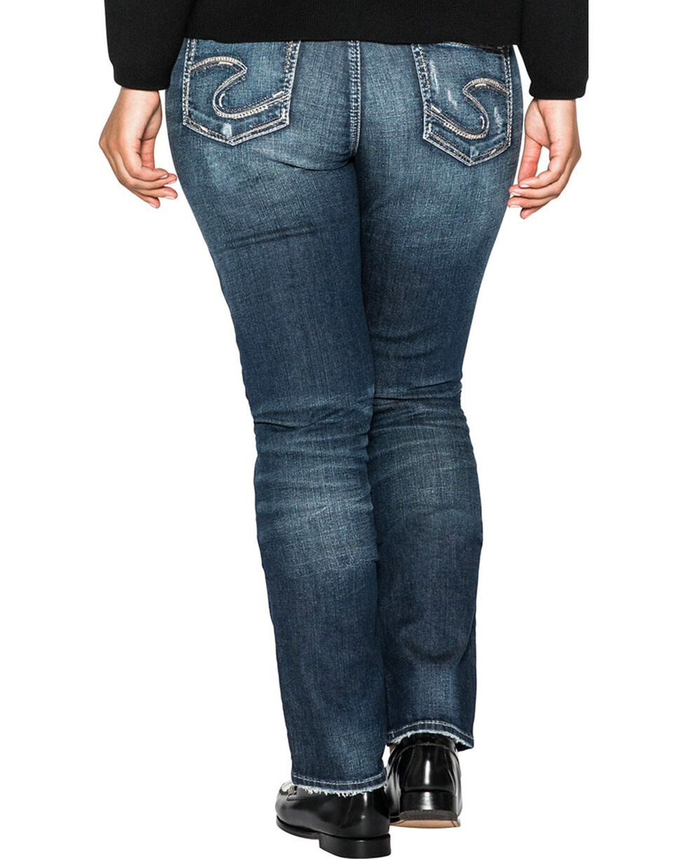 Silver Women's Elyse Dark Wash Straight Jeans - Plus Size , Indigo, hi-res