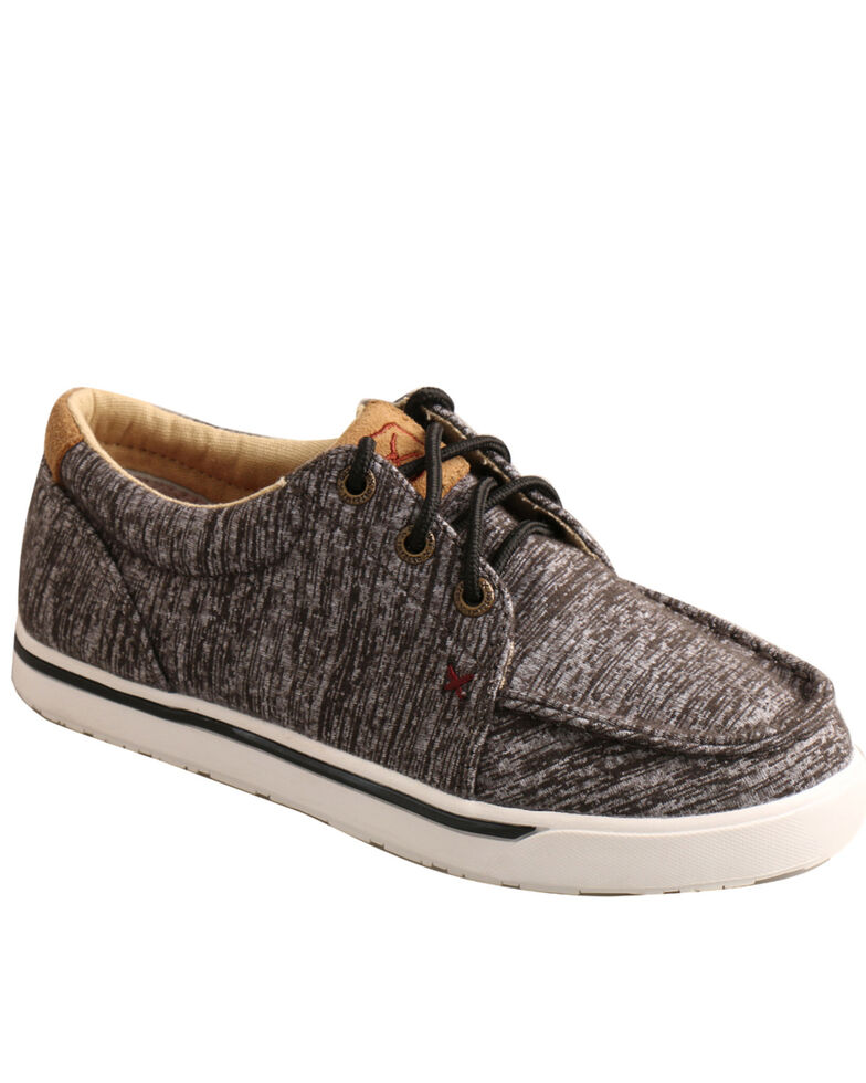 Twisted X Boys' Kicks Casual Shoes - Moc Toe, Dark Grey, hi-res