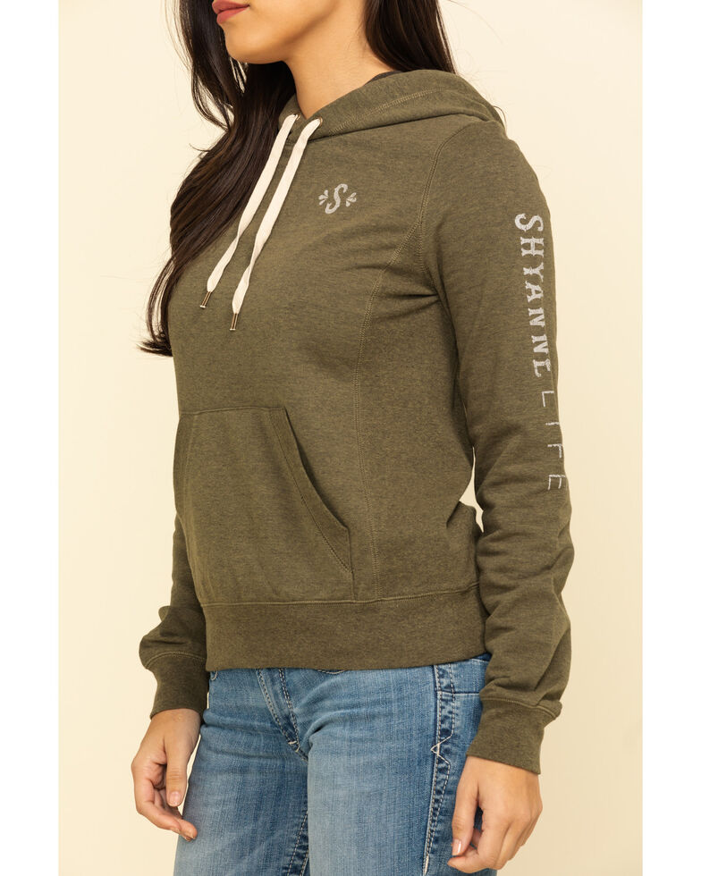 Shyanne Life Women's Solid Logo Hoodie , Olive, hi-res