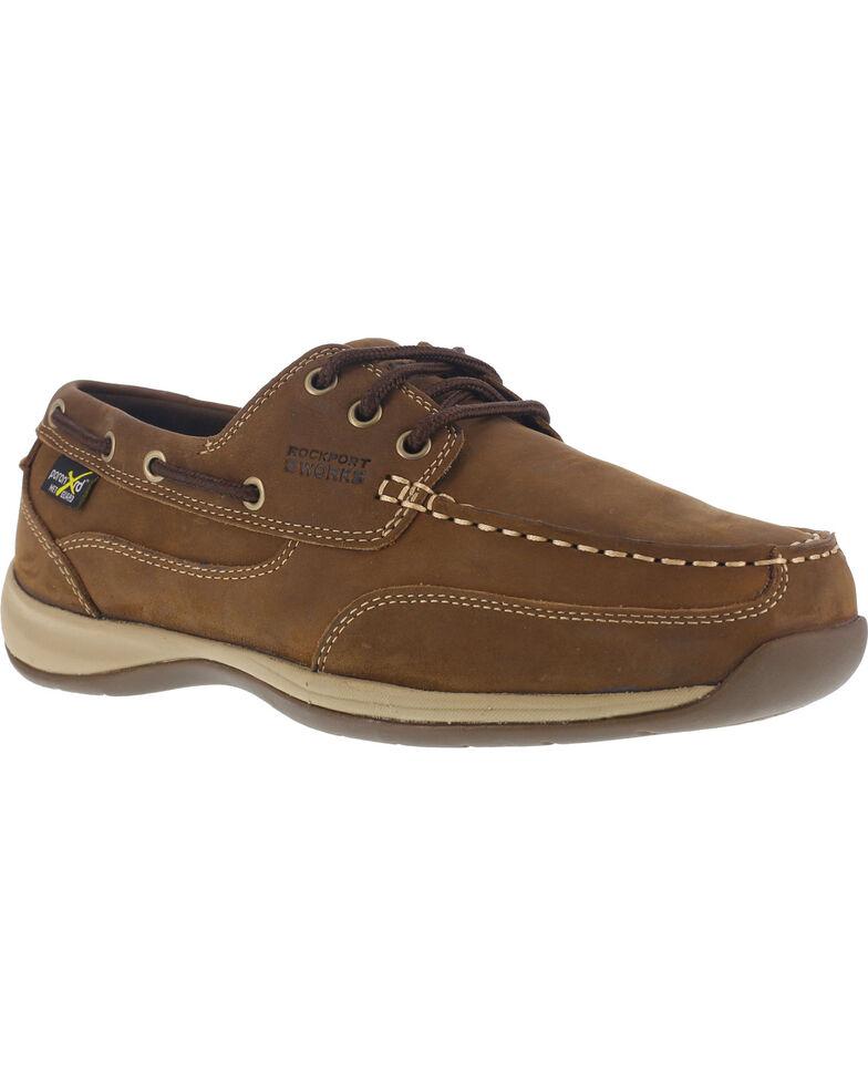 Reebok Women's Sailing Club Met Guard Construction Shoes - Steel Toe , Brown, hi-res