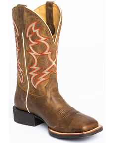 Cody James Men's Vanndale Western Boots - Wide Square Toe, Tan, hi-res