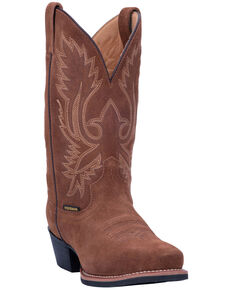 Laredo Men's Colton Western Boots - Square Toe, Tan, hi-res