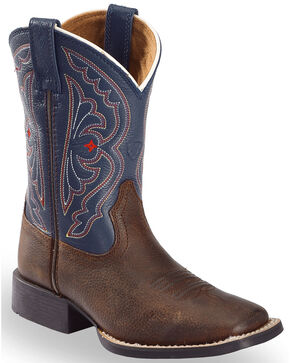 """Ariat Youth Quick Draw 8"""" Western Boots, Brown, hi-res"""