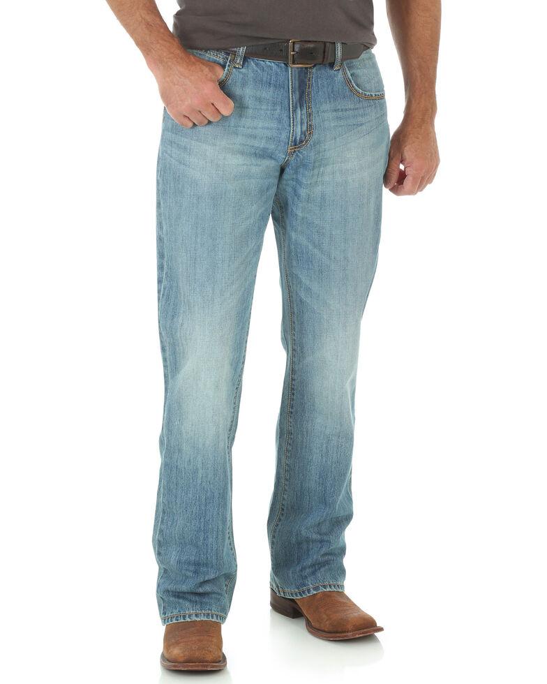 f438728621b Zoomed Image Wrangler Men's Retro Relaxed Boot Cut Jeans, Indigo, hi-res