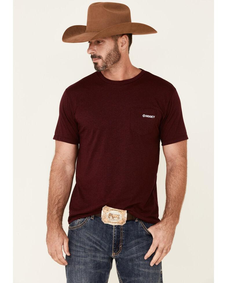 HOOey Men's Red Pocket Logo Short Sleeve T-Shirt , Red, hi-res
