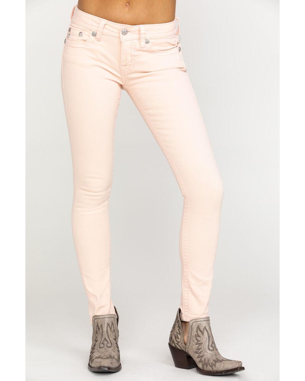 Miss Me Women's Angle Pocket Skinny Jeans, Pink, hi-res