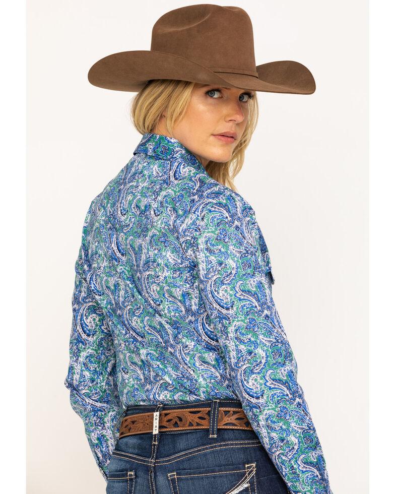 Rough Stock by Panhandle Women's Bellaria Vintage Print Long Sleeve Western Shirt, Multi, hi-res