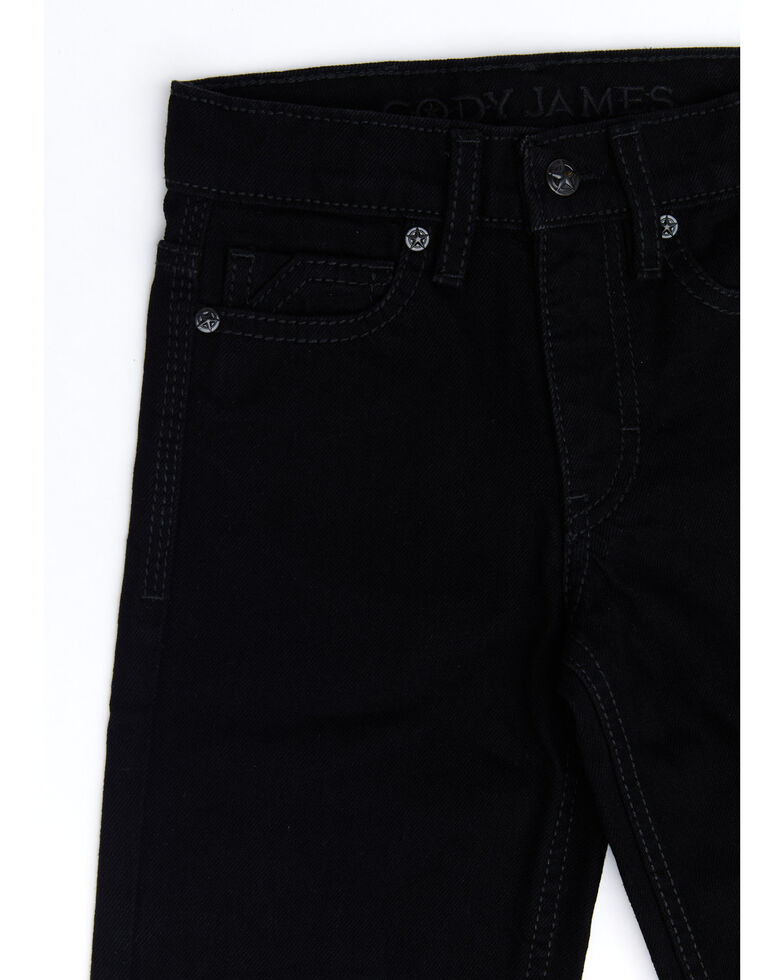Cody James Boys' 4-8 Night Rider Rigid Relaxed Bootcut Jeans , Black, hi-res