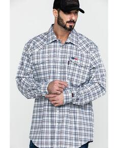 Cinch Men's FR Lightweight Check Print Long Sleeve Work Shirt , , hi-res