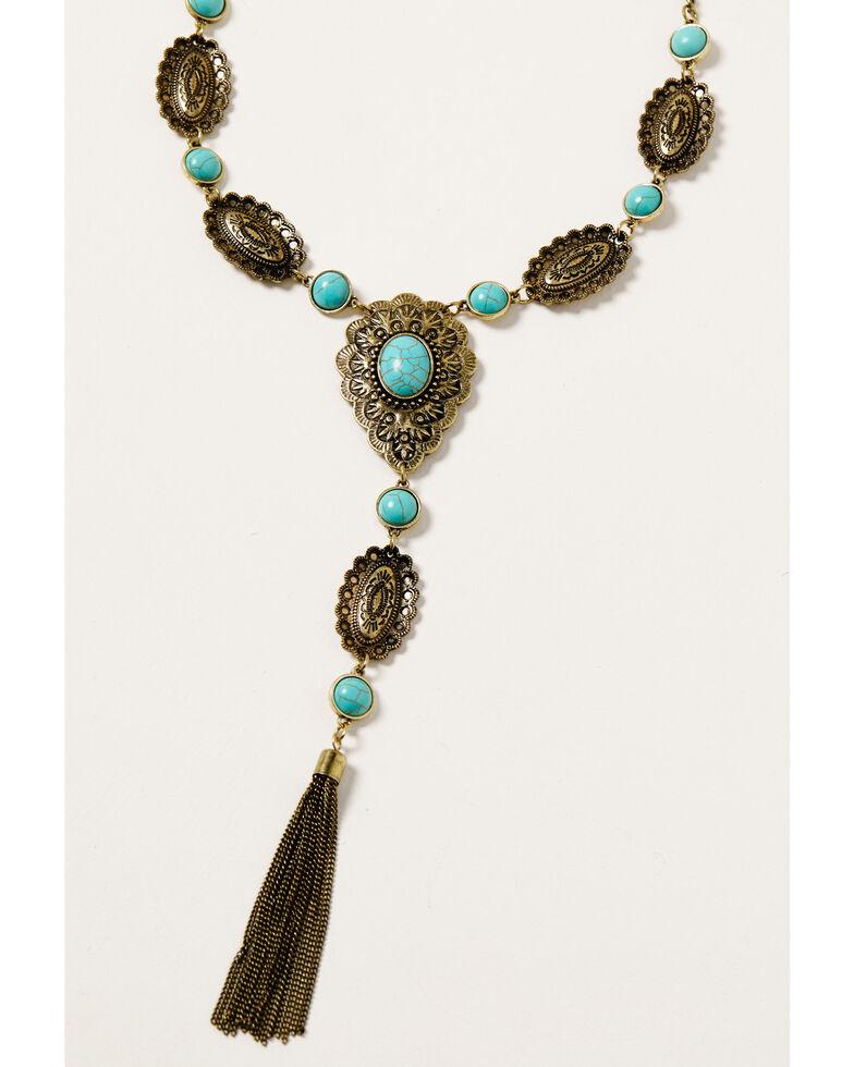 Shyanne Women's Golden Dreamcatcher Layered Y Necklace, Gold, hi-res