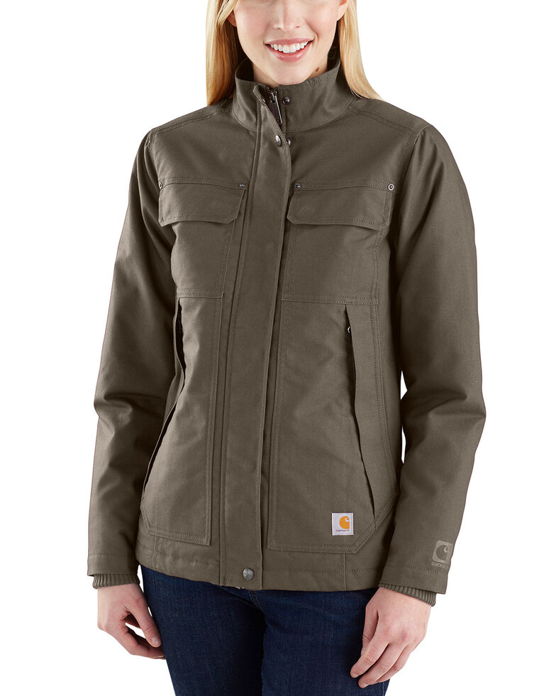 Carhartt Women's Quick Duck Jefferson Traditional Jacket , Dark Grey, hi-res