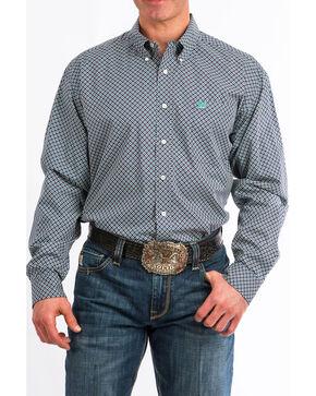 Cinch Men's Floral Geo Print Long Sleeve Western Shirt , Wine, hi-res