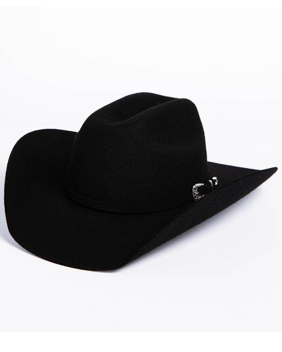 Cody James Boys' 3X Wool Buckle Hat, Black, hi-res