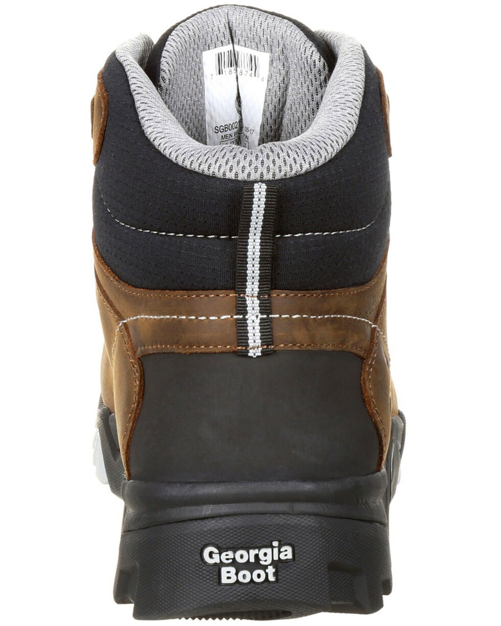 Georgia Boot Men's Amplitude Waterproof Work Boots - Composite Toe, Brown, hi-res