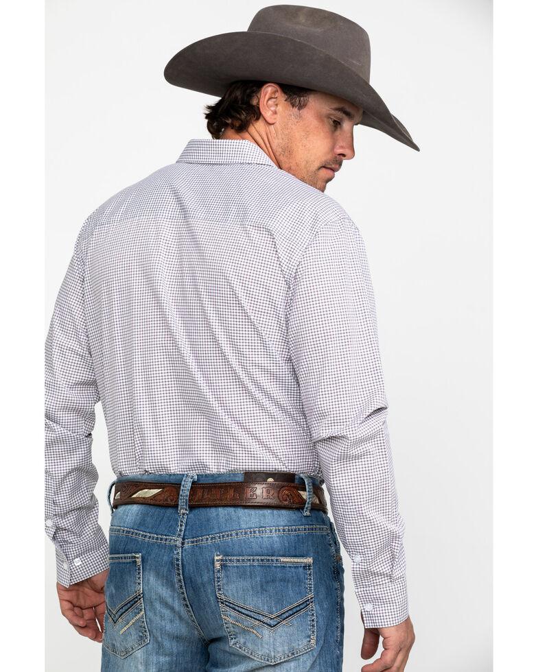 Gibson Men's Check Point Geo Print Long Sleeve Western Shirt , White, hi-res