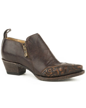 Stetson Women's Brown Phoebe Leather Shoe Boots, Brown, hi-res