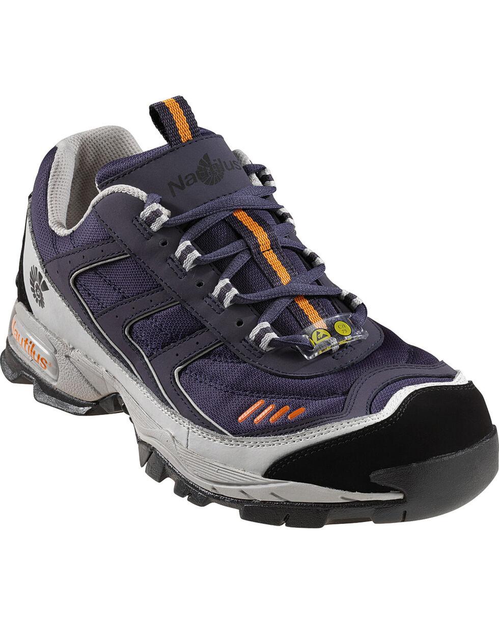 Nautilus Men's Steel Toe ESD Athletic Work Shoes, Blue, hi-res