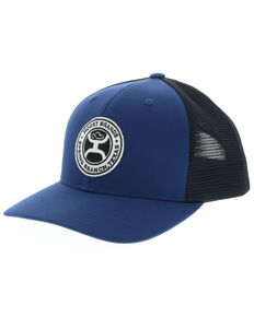 HOOey Men's Gaudalupe Ball Cap, Black/blue, hi-res