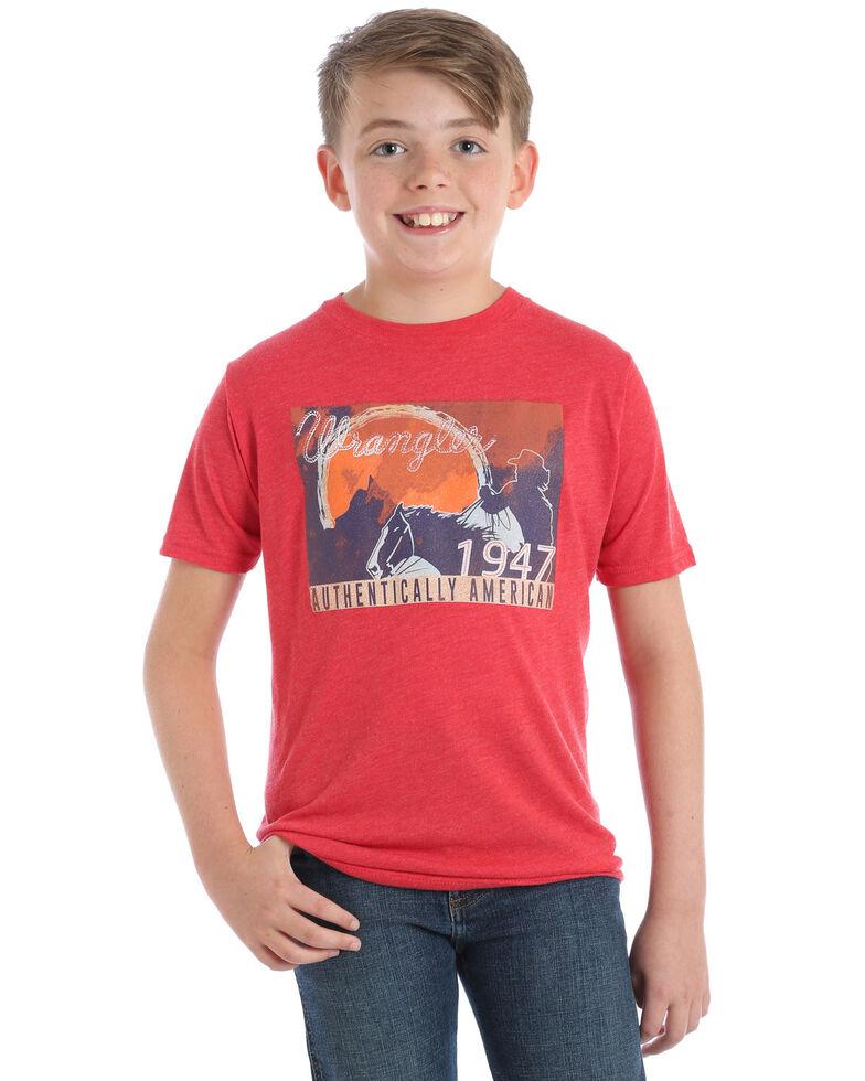 Wrangler Boys' Vintage Red 1947 Logo Graphic T-Shirt , Red, hi-res