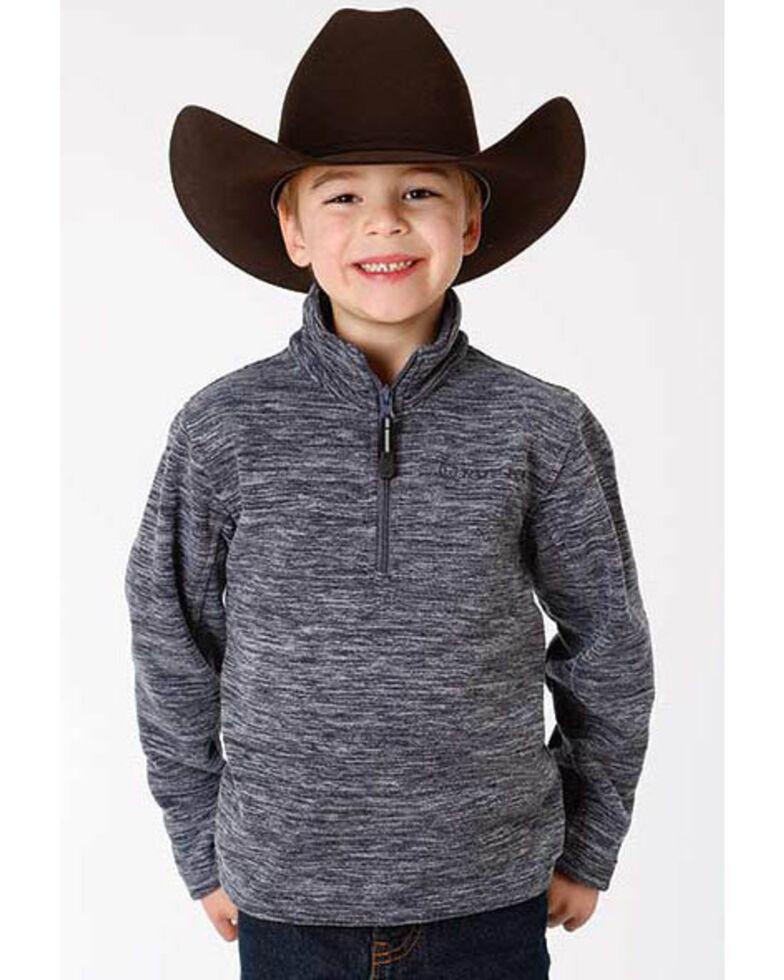 Roper Boys' Blue Bonded Fleece Lightweight Pullover Jacket , Blue, hi-res