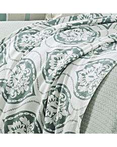 HiEnd Accents Belmont Super Queen Duvet, Green, hi-res