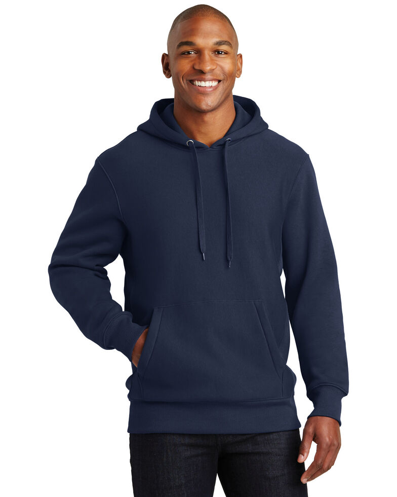 Sport Tek Men's Navy Super Heavyweight Hooded Work Sweatshirt - Big , Navy, hi-res