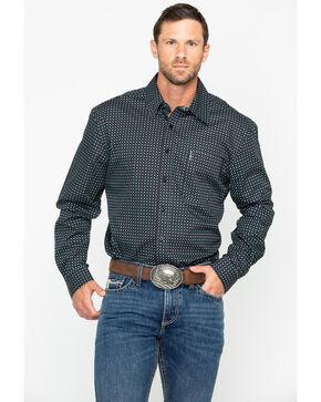 Cinch Men's Black Geo Print Long Sleeve Western Shirt , Black, hi-res