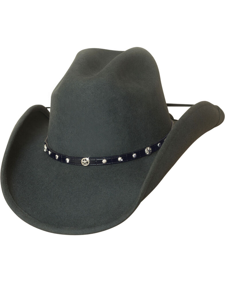 Bullhide Balled Up Premium Wool Classic Cowboy Hat , Grey, hi-res