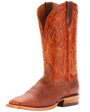 Ariat Men's Bronc Stomper Western Boots - Square Toe, Chocolate, hi-res