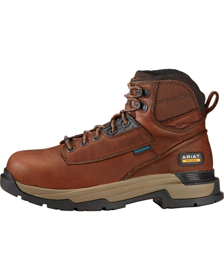 """Ariat Mastergrip 6"""" H2O Briar Brown Work Boots, Briar, hi-res"""