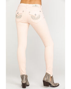 Miss Me Women's Angle Pocket Skinny Jeans, Pink, hi-res