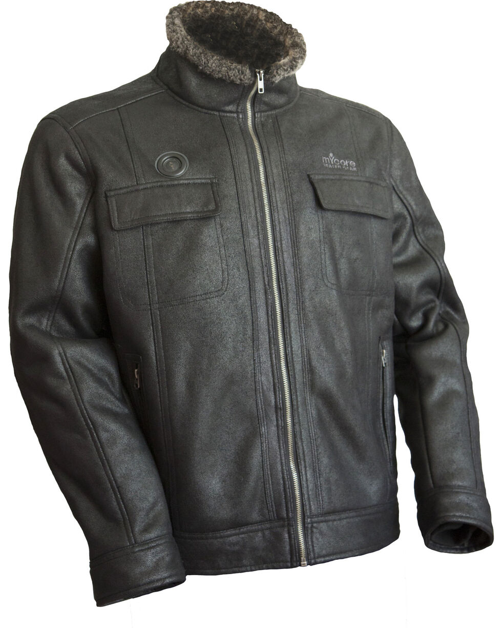 My Core Heated Bomber Jacket, Black, hi-res