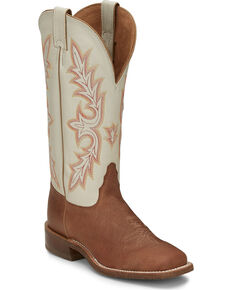Tony Lama Women's Marlou Cedar Western Boots - Wide Square Toe, Tan, hi-res