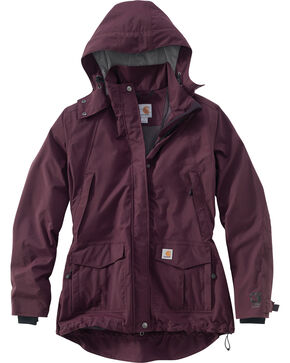 Carhartt Women's Shoreline Jacket, Wine, hi-res