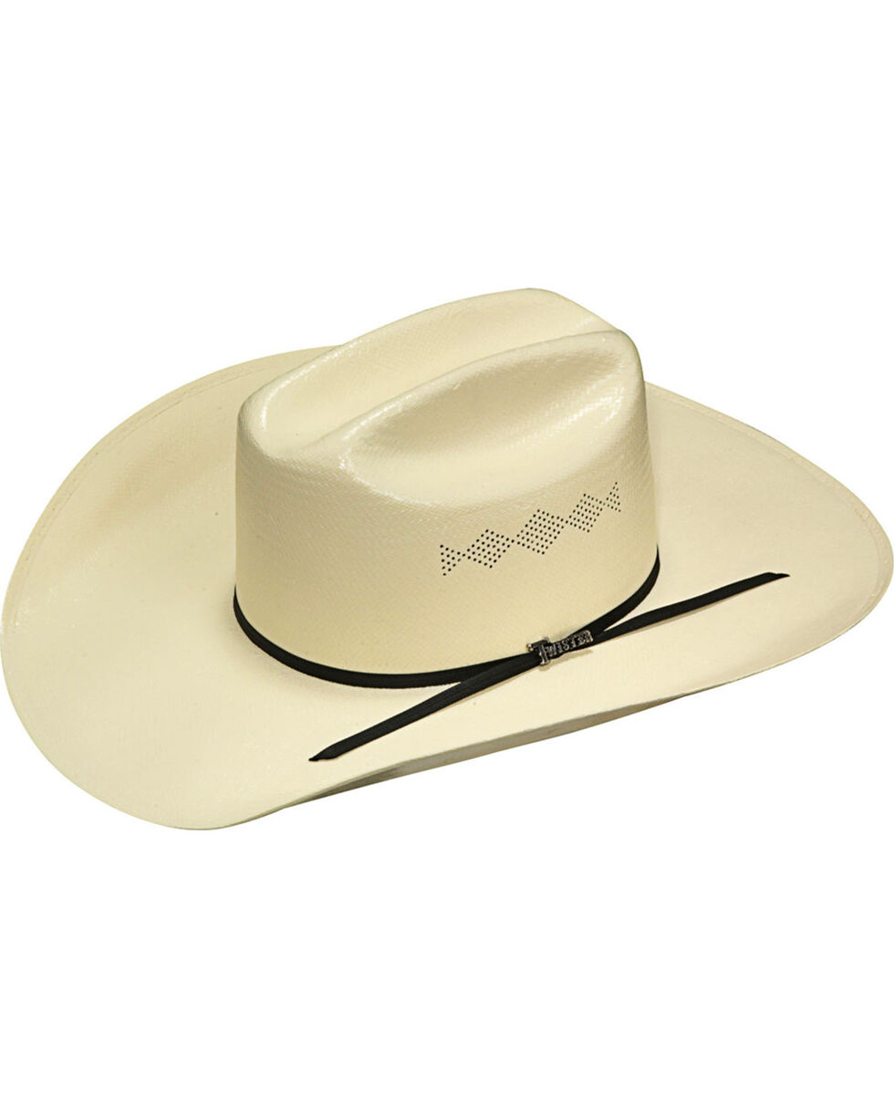 Twister Men's Ivory 8X Shantung Straw Cowboy Hat , Ivory, hi-res