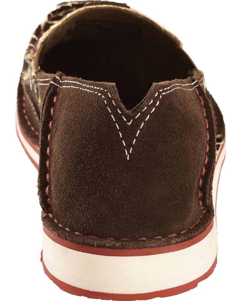 Ariat Women's Giraffe Print Cruiser Slip-on Shoes, Chocolate, hi-res