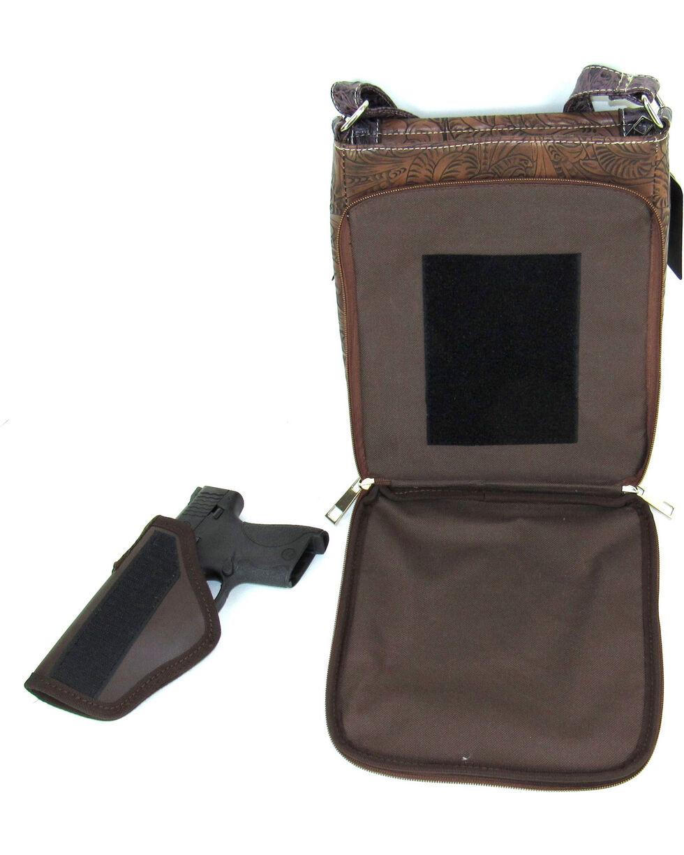 Savana Women's Fierce Tooled Professional Carry Crossbody Purse , , hi-res