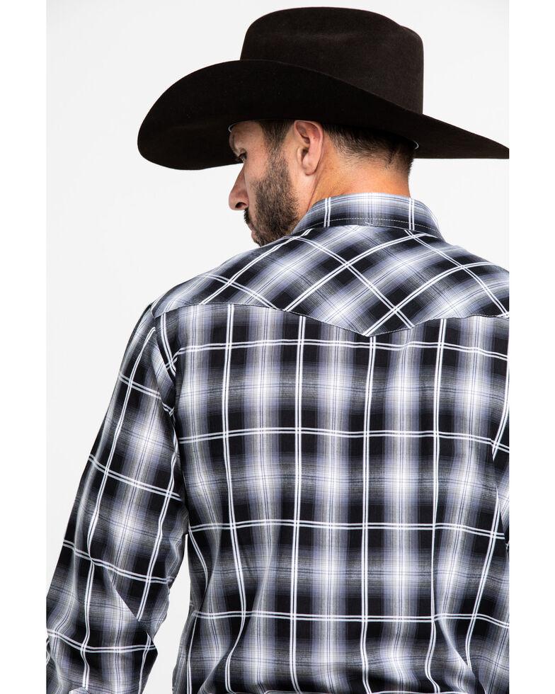 Roper Men's Black Classic Plaid Long Sleeve Western Shirt , Black, hi-res