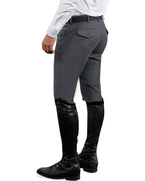 Ovation Men's Euroweave Four Pocket Full Seat DX Breeches, Charcoal Grey, hi-res