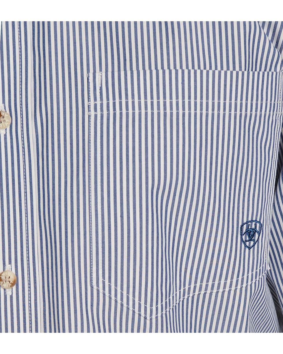 Ariat Men's Balin Long Sleeve Western Shirt, Light Blue, hi-res