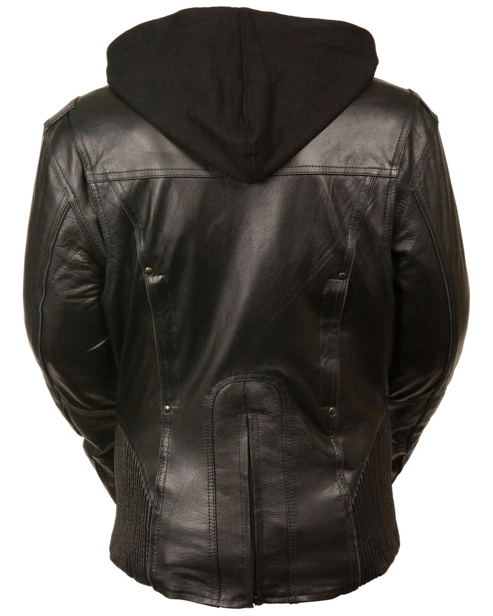 Milwaukee Leather Women's 3/4 Jacket With Reflective Tribal Detail - 5X, , hi-res