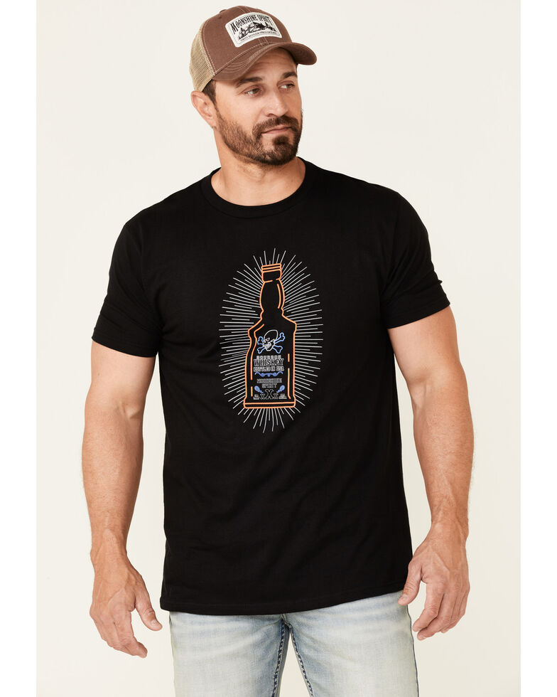 Cody James Men's Black Neon Bottle Graphic Short Sleeve T-Shirt , Black, hi-res