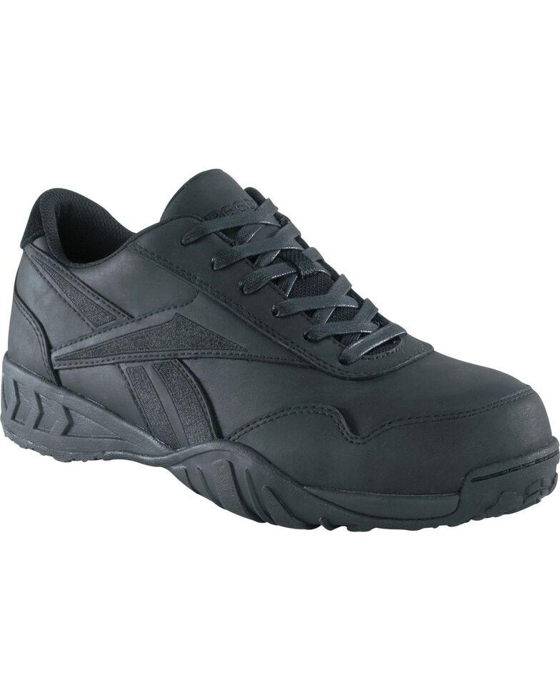 Reebok Men's Bema Work Shoes - Composite Toe, Black, hi-res