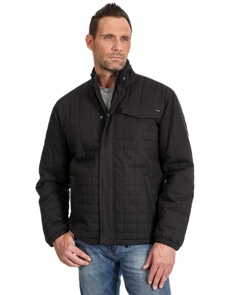 Wrangler Men's Black Chore Ripstop Quilted Coat , Black, hi-res