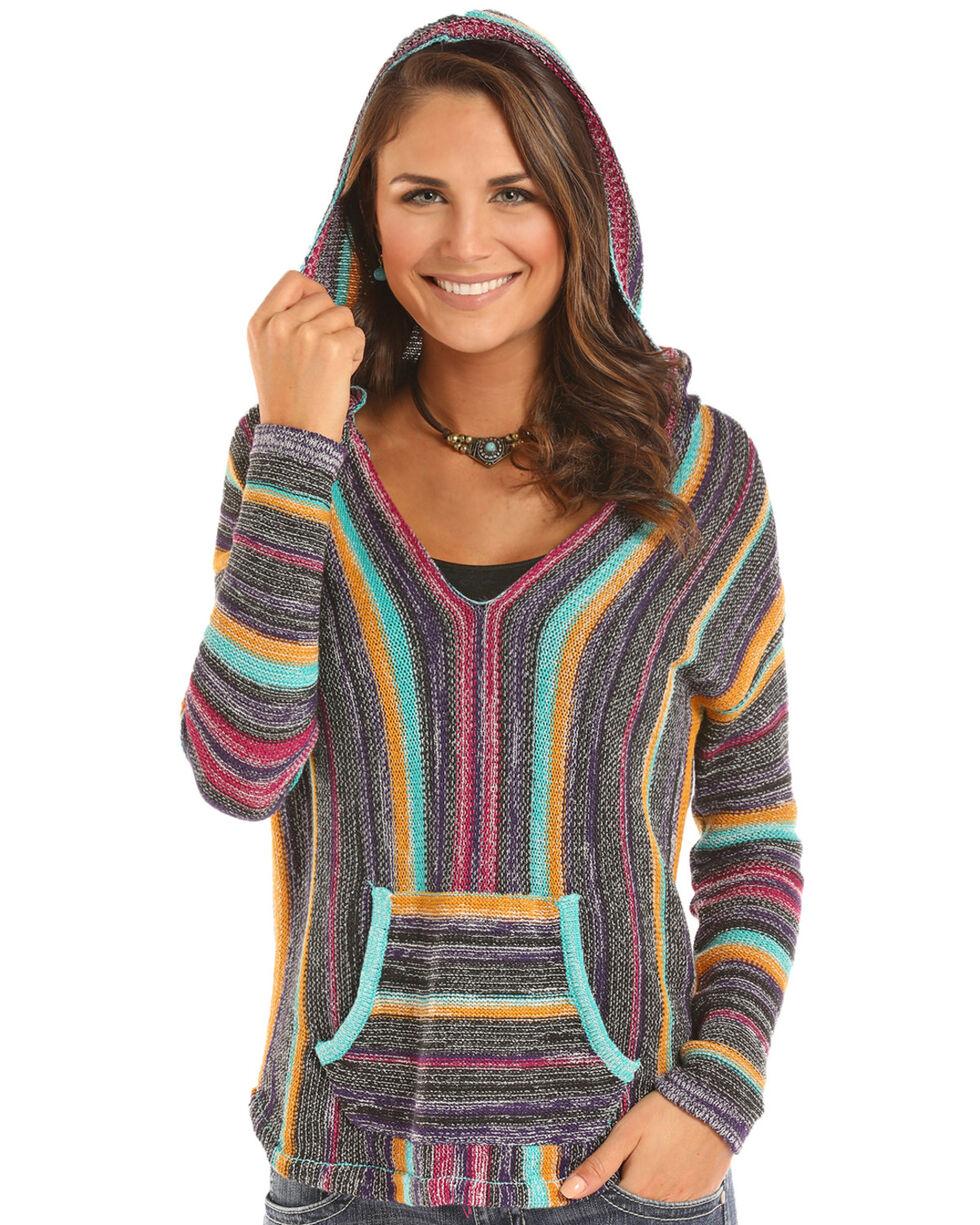 Rock & Roll Cowgirl Women's Bright Serape Lightweight Sweater, , hi-res